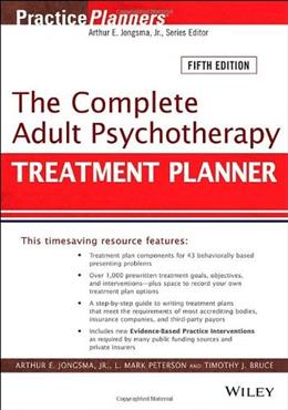 The Complete Adult Psychotherapy Treatment Planner: Includes DSM-5 Updates 9781118067864