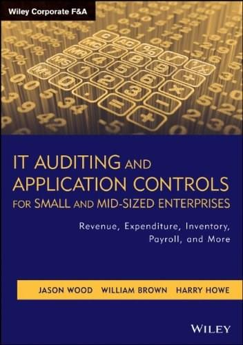 IT Auditing and Application Controls for Small and Mid-Sized Enterprises: Revenue, Expenditure, Inventory, Payroll, and More, by Wood 9781118072615