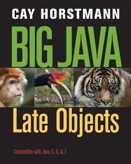 Big Java: Late Objects 1 9781118087886