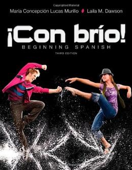 Con brio: Beginning Spanish, by Murillo,3rd Spanish Edition 9781118130629