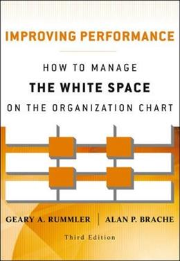 Improving Performance: How to Manage the White Space on the Organization Chart, by Rummler. 3rd Edition 9781118143704