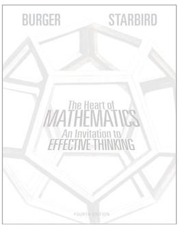 The Heart of Mathematics: An Invitation to Effective Thinking 4 9781118156599