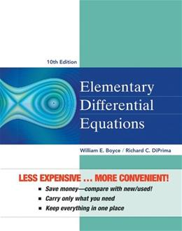 Elementary Differential Equations, by Boyce, 10th Edition 9781118157398