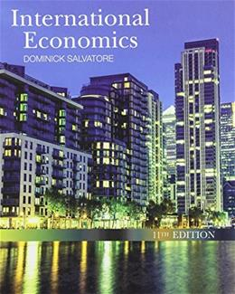 International Economics, by Salvatore, 11th Edition 9781118177938