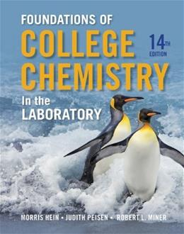 Foundations of College Chemistry in the Laboratory 14 9781118288993