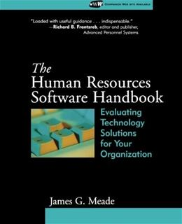 Human Resources Software Handbook: Evaluating Technology Solutions for Your Organization, by Meade 9781118336335