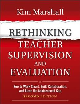 Rethinking Teacher Supervision and Evaluation, by Marshall, 2nd Edition 9781118336724