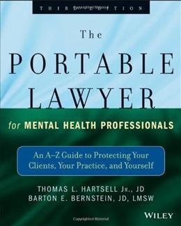 Portable Lawyer for Mental Health Professionals, by Bernstein, 3rd Edition 9781118341087