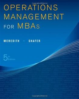 Operations Management for MBAs 5 9781118369975