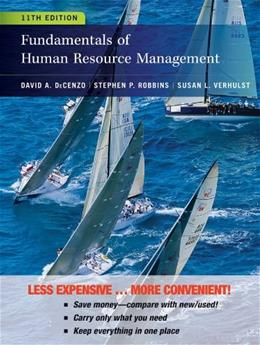 Fundamentals of Human Resource Management, by DeCenzo, 11th Edition 9781118379684
