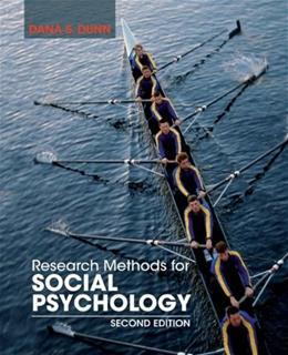 Research Methods for Social Psychology, by Dunn, 2nd Edition 9781118406052