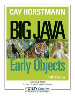 Big Java: Early Objects 5 9781118431115
