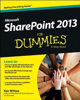 SharePoint 2013 For Dummies, by Williams 9781118510711