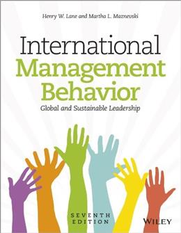 International Management Behavior: Global and Sustainable Leadership, by Lane, 7th Edition 9781118527375