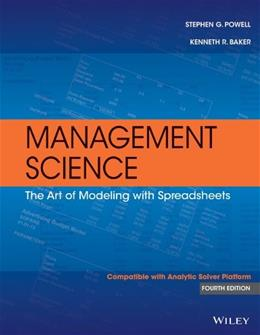 Management Science: The Art of Modeling with Spreadsheets 4 PKG 9781118582695