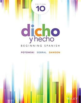 Dicho y hecho: Beginning Spanish (Spanish Edition) - Standalone book 10 9781118615614