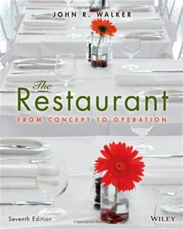 Restaurant: From Concept to Operation, by Walker 7 9781118629628