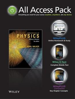 Physics, by Halliday, 10th Edition PKG 9781118718377