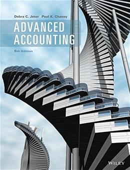 Advanced Accounting, by Jeter, 6th Edition 9781118742945