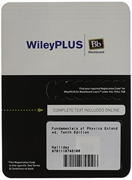 Fundamentals of Physics Extended, Tenth Edition WileyPLUS Blackboard Card 10 PKG 9781118745106