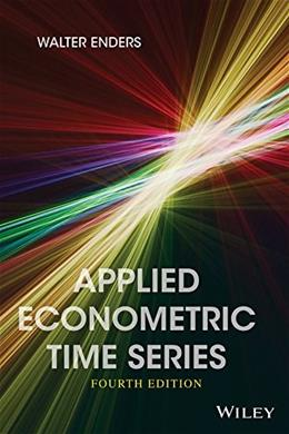 Applied Econometric Time Series, by Enders, 4th Edition 9781118808566