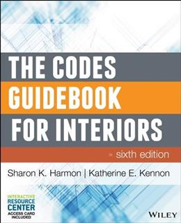 Codes Guidebook for Interiors, by Harmon, 6th Edition 6 PKG 9781118809365