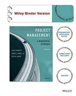 Project Management, Binder Ready Version: A Managerial Approach 9 9781118947029