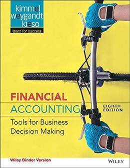 Financial Accounting: Tools for Business Decision Making, by Kimmel, 8th Edition 9781118953907