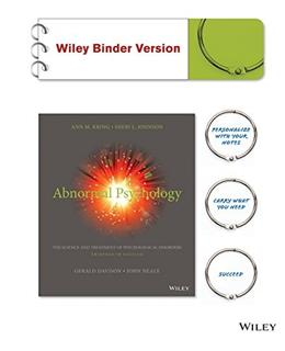 Abnormal Psychology, by Kring, 13th Edition Binder Ready Version: DSM-5 Update 9781118953983