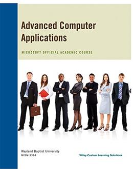 Advanced Computer Application 9781118957646