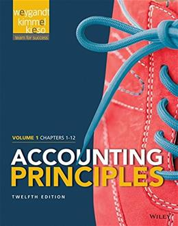 Accounting Principles, by Weygandt, 12th Edition, Volume 1: Chapters 1 - 12 9781118978757