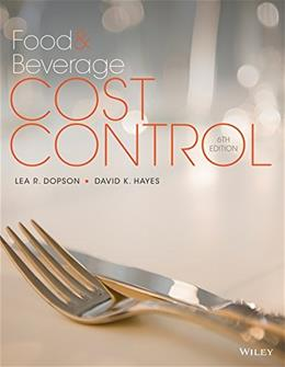 Food and Beverage Cost Control 6 9781118988497