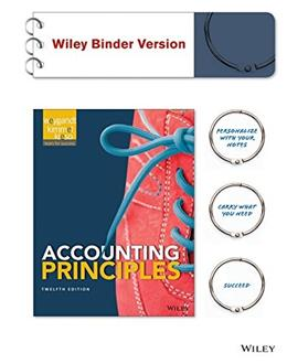 Accounting Principles 12e Binder Ready Version + WileyPLUS Registration Card 9781119036395