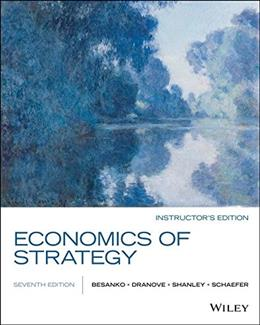Economics of Strategy, by Besanko, 7th Edition 9781119042303
