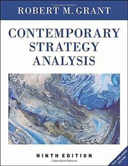 Contemporary Strategy Analysis: Text and Cases Edition, 9th Edition 9781119120841