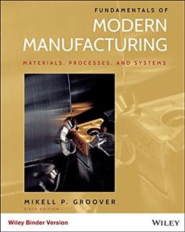 Fundamentals of Modern Manufacturing: Materials, Processes, and Systems, by Groover, 6th Edition Binder Ready Version 9781119128694