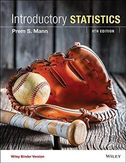 Introductory Statistics, Binder Ready Version 9 9781119148326