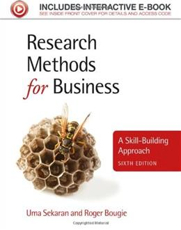 Research Methods for Business: A Skill-Building Approach 6 PKG 9781119942252