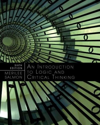 Introduction to Logic and Critical Thinking 6 9781133049753