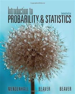 Introduction to Probability and Statistics 14 9781133103752