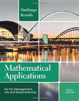 Mathematical Applications for the Management, Life, and Social Sciences (Textbooks Available with Cengage Youbook) 10 9781133106234