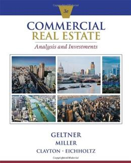 Commercial Real Estate Analysis and Investments (w/ CD) 3 w/CD 9781133108825