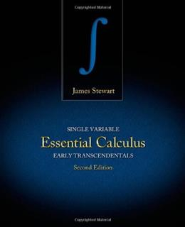 Single Variable Essential Calculus: Early Transcendentals, by Stewart, 2nd Edition 9781133112785