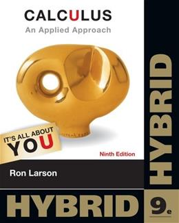 Calculus: An Applied Approach, by Larson, 9th Hybrid Edition 9 PKG 9781133115007