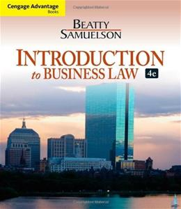 Introduction to Business Law, 4th Edition 9781133188155