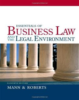 Essentials of Business Law and the Legal Environment 11 9781133188636