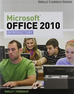 Microsoft Office 2010, by Shelly, Introductory PKG 9781133263098