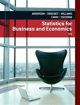 Statistics for Business & Economics 12 9781133274537