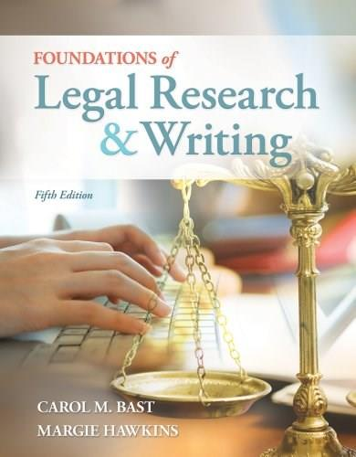 Foundations of Legal Research and Writing 5 9781133278290