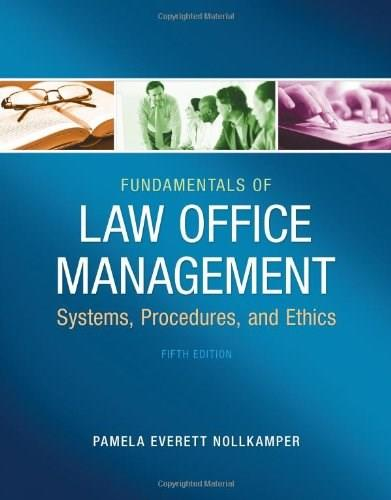 Fundamentals of Law Office Management 5 9781133280842